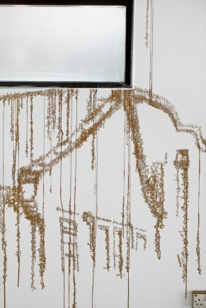 Photo by Alain Kantarjian. Enoch Cheung, Pseudo Writing: About I Think It Rains , 2014